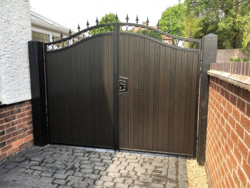 FDW1 Black Brown UPVC